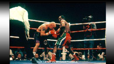 Photo of Dingaan Thobela KO 12 Glenn Catley – 1 September 2000