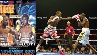 Photo of Phillip Ndou UD 12 Cassius Baloyi – 3 November 2001