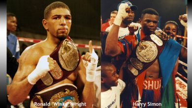 Photo of Harry Simon MD 12 Winky Wright – 22 August 1998