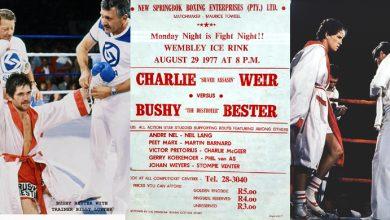 Photo of Charlie Weir KO 1 Bushy Bester – 29 August 1977