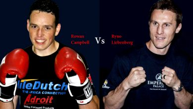 Photo of Campbell and Liebenberg ready for war, cruiserweights eager to impress.