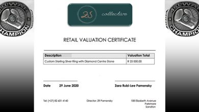 Photo of Valuation Certificate for Final.