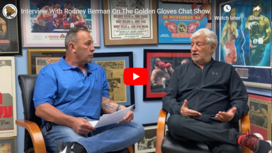 Photo of Interview With Rodney Berman On The Golden Gloves Chat Show