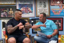 Photo of Brian Mitchell chats to Kevin Lerena