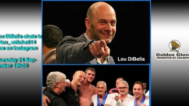 Photo of Top Promoter Lou DiBella chats to Brian Mitchell tonight at 5pm