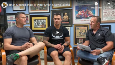 Photo of Brian Mitchell chats to Peter Smith & Kevin Lerena